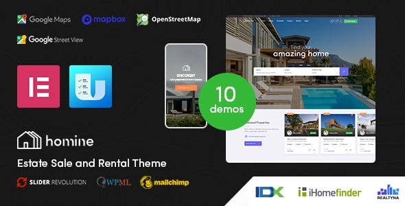 Download Homine – Real Estate WordPress Theme