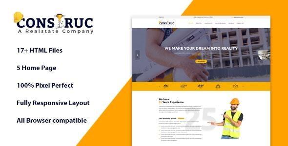 Construc | Ultimate Construction Company website template - Business Corporate