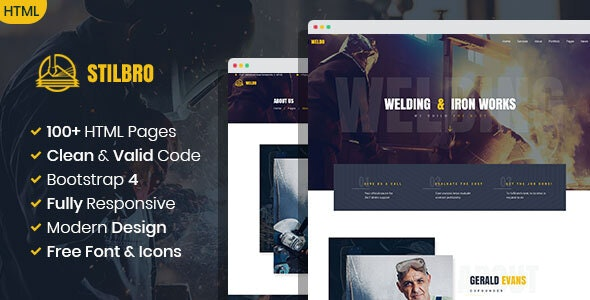 Stilbro - Metal and Steelworks Company HTML template - Business Corporate