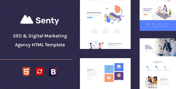 Senty - Seo & Digital Marketing HTML5 Template - Software Technology