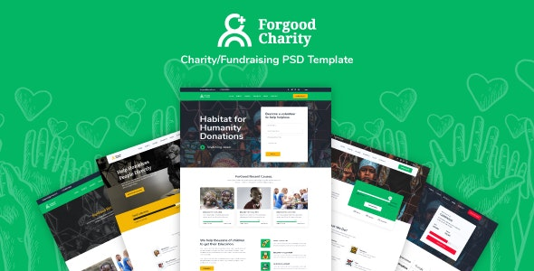 ForGood| Charity/Nonprofit PSD Template - Charity Nonprofit