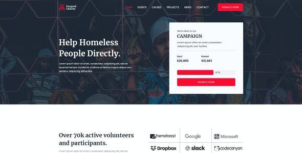 ForGood  Charity/Nonprofit PSD Template
