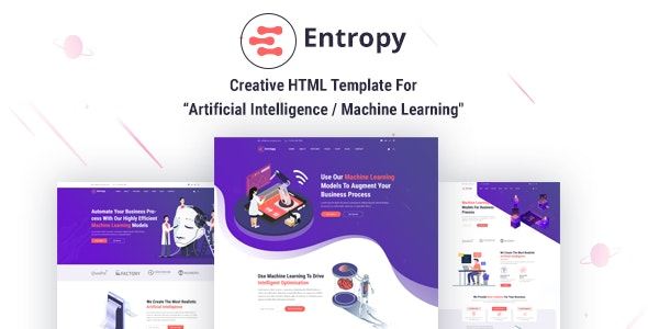 Entropy - Machine Learning & AI Startups HTML Template - Software Technology