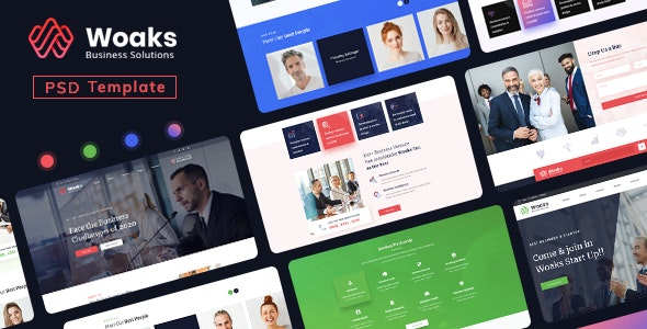 Woaks - Business PSD Template - Business Corporate