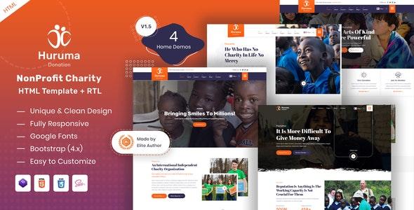 Huruma - Charity Foundation HTML Template - Charity Nonprofit