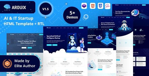 Arduix - AI & IT Startup HTML Template - Technology Site Templates