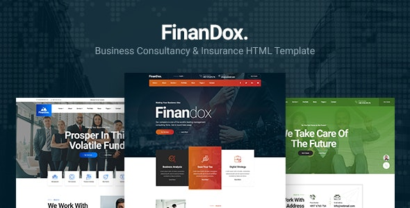 Finandox - Business Consulting and Professional Services HTML Template - Business Corporate