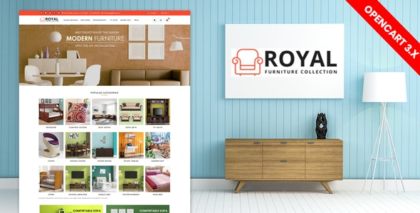 Royal Furniture Responsive Website Template - Shopping OpenCart