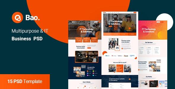 Bao - Multipurpose IT Solution & Business PSD Template - Business Corporate