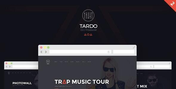 DJ TARDO // Music & Producer Bootstrap Template - Music and Bands Entertainment
