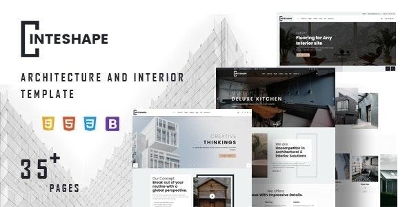 Inteshape - Architecture & Interior Joomla Template - Business Corporate