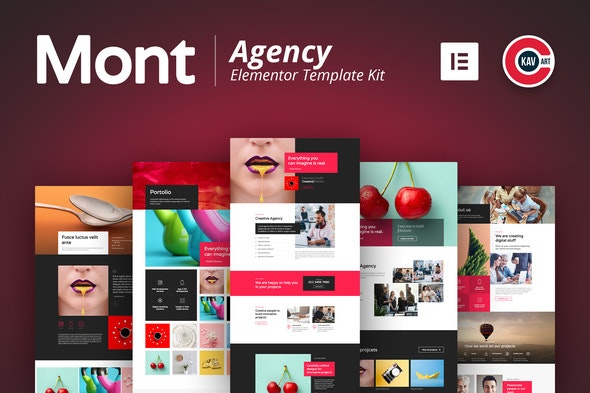 Mont - Agency Template kit - Creative & Design Elementor