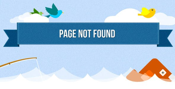 Catch the Fish - 404 Error Page