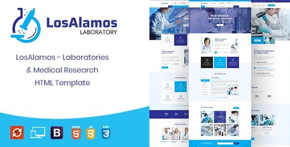 Losalamos | Laboratory & Research HTML Template
