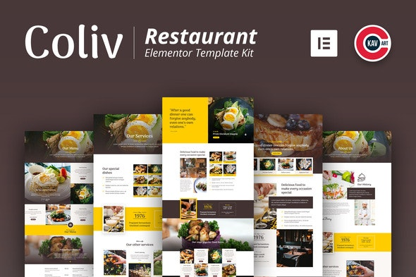 Coliv - Restaurant Template Kit - Food & Drink Elementor