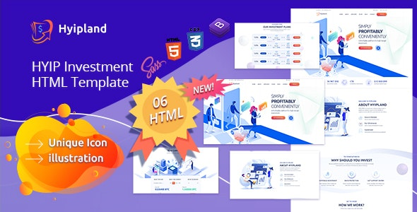 Hyipland - HYIP Investment HTML Template - Business Corporate