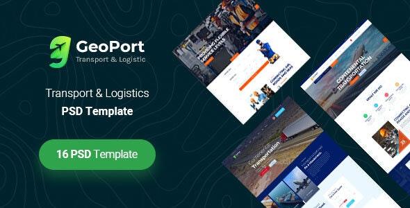 GeoPort - Transport & Logistics PSD Template - Business Corporate