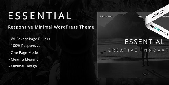 Essential - Responsive Minimal WordPress Theme - Portfolio Creative