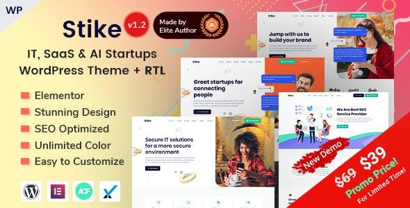 Stike - IT Startups WordPress Theme - Software Technology