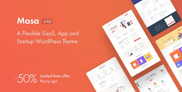 Masa - Creative Startup WordPress Theme - Software Technology