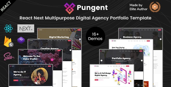 Pungent - React Startups & Digital Agency Templates - Corporate Site Templates