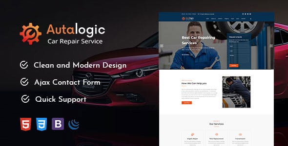 Autalogic - Modern Auto Car Repair Business HTML5 Template