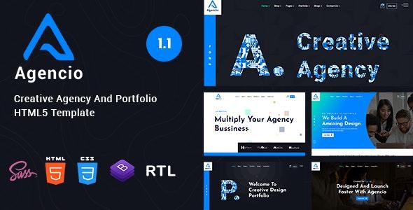 Agencio - Creative Agency And Portfolio HTML5 Template - Creative Site Templates