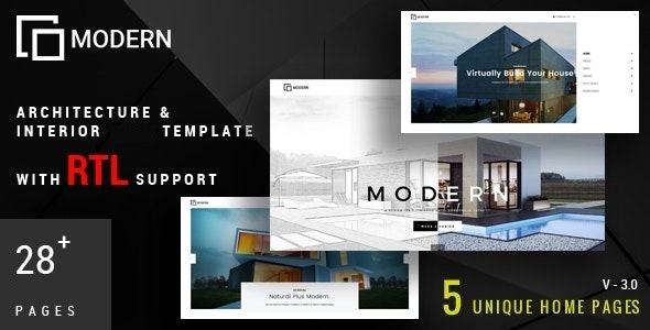 Modern - Architecture & Interior Drupal 8 Theme - Business Corporate