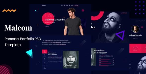 Malcom - Peronal Portfolio PSD Template - Portfolio Creative