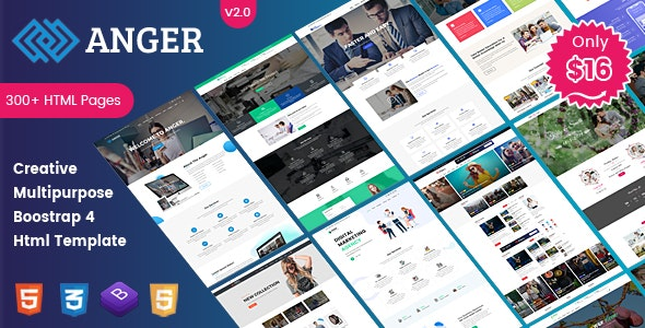 Anger Multipurpose - Creative Agency, Corporate and Portfolio Bootstrap 4 Multi-Purpose Template - Business Corporate