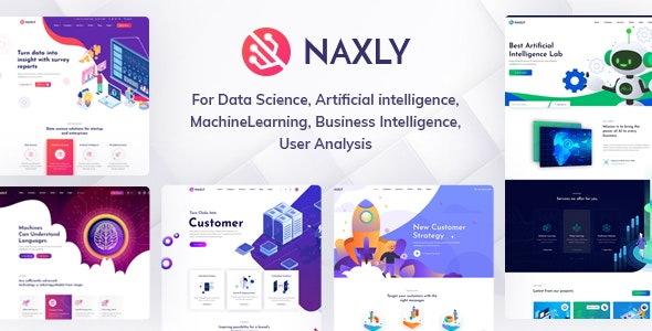 Naxly - Data Science & Analytics HTML Template - Technology Site Templates