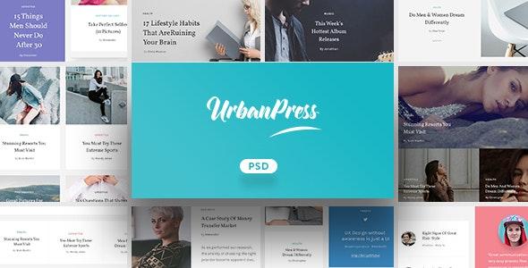 UrbanPress - Multi-Purpose PSD Template - Creative Photoshop