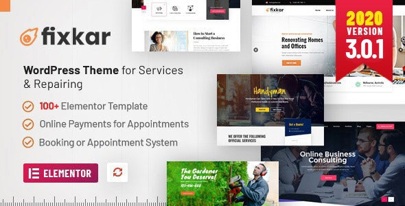 FixKar - All Services WordPress Theme - Business Corporate