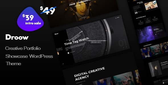 Droow - Ajax Portfolio WordPress Theme - Portfolio Creative