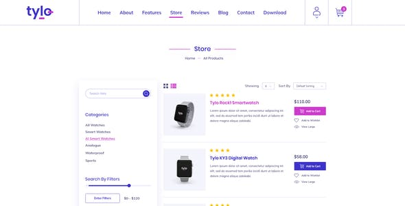 Tylo - Gadgets eCommerce PSD Template