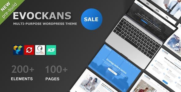 Evockans - Responsive Multi-Purpose WordPress Theme