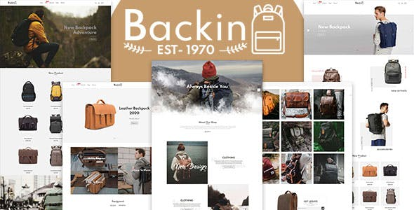 Backin - Bags And Backpack Modern Shopify Theme
