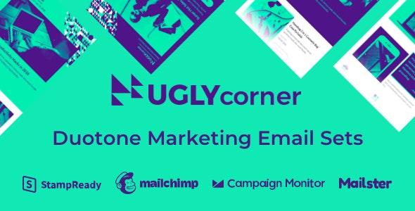 UglyCorner - Duotone Marketing Email Sets - Email Templates Marketing