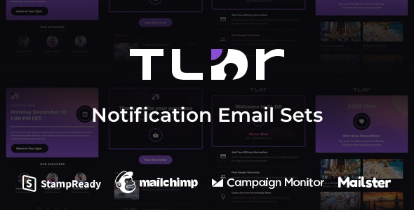 TLDR - Notification Email Sets + Animated Icons - Email Templates Marketing