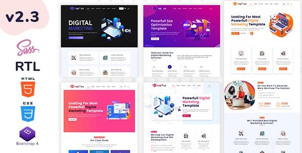 Loptus - Digital Marketing Agency Responsive HTML5 Template - Corporate Site Templates