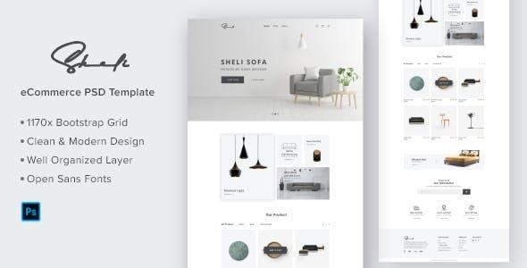 Sheli-Furniture e-Commerce Website Template Design