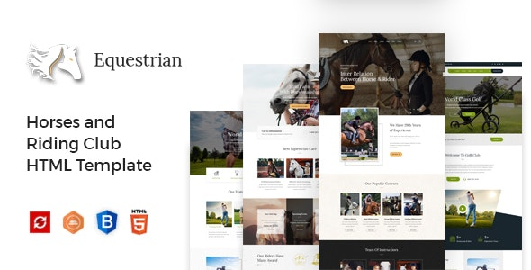 Equestrian - Horses and Riding Club HTML Template - Business Corporate