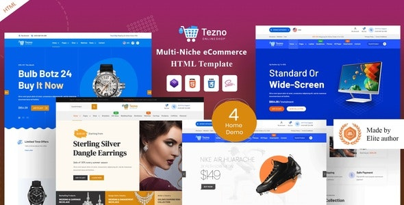 Tezno - eCommerce HTML Template - Shopping Retail