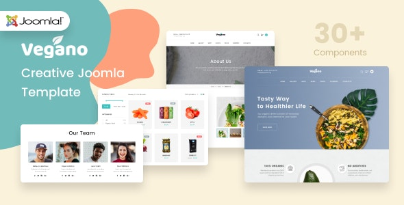 Vegano - Organic Food Joomla Template - Food Retail