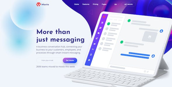 Mosto - Software and App Landing Pages PSD Template