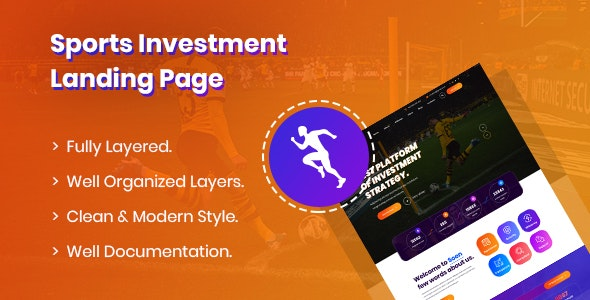 Seon - Sports Investment PSD Template - Miscellaneous PSD Templates