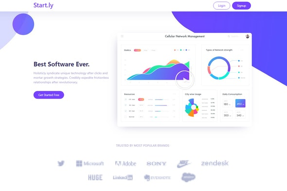 Startly Template Kit for Startups, SaaS & Software - Technology & Apps Elementor