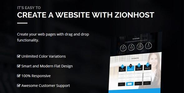 ZionHost Web Hosting WHMCS and Corporate Business WordPress Theme