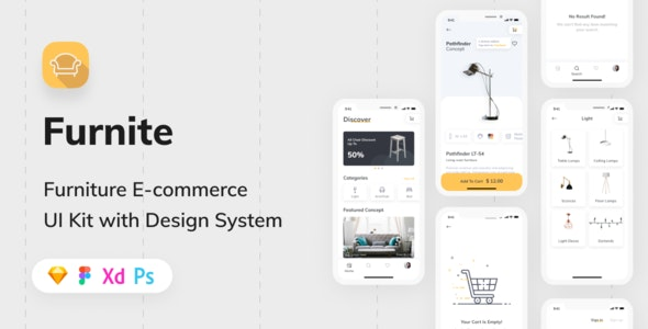 Furnite Furniture E Commerce Ui Kit By Capi Creative Design Themeforest