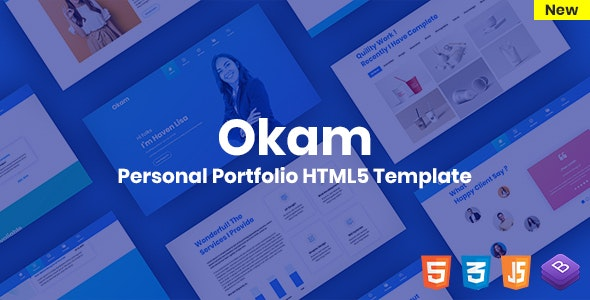 Okam - Personal Portfolio Template - Personal Site Templates